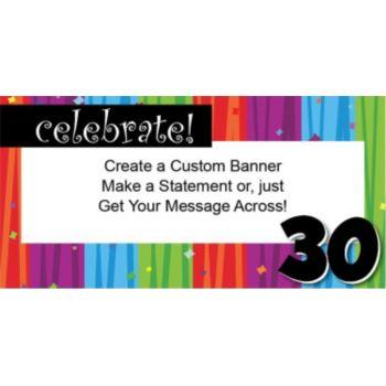 Rainbow Celebration 30 Custom Banner