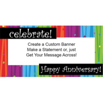 Rainbow Celebration Anniversary Banner