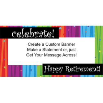 Rainbow Celebration Retirement Custom Banner