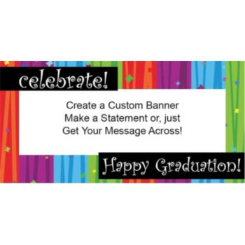 Rainbow Celebration Graduation Custom Banner