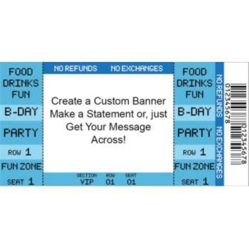 Blue Ticket Custom Banner