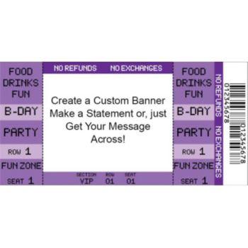 Purple Ticket Custom Banner