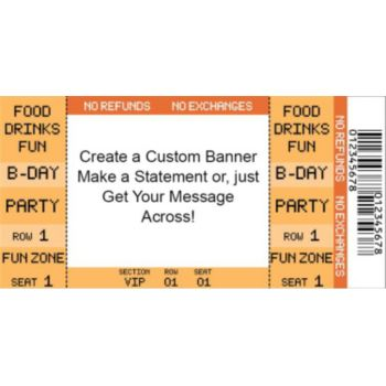 Orange Ticket Custom Invitations