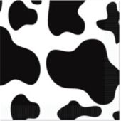 Cow Print Beverage Napkins - 16 Pack