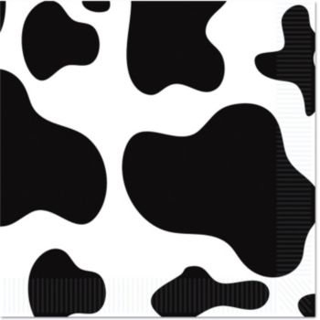 Cow Print Beverage Napkins