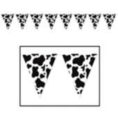 Cow Print Pennant Banner Decoration