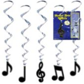 Musical Note Swirl Decorations-5 Pack