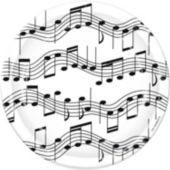"Musical Notes 7"" Plates - 8 Pack"