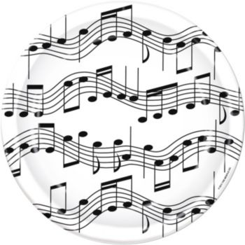 "Musical Notes  7"" Plates"