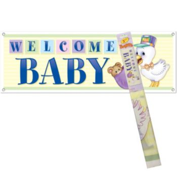 Stork Welcome  Baby Banner