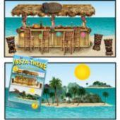 Tropical Island Tiki Bar Props