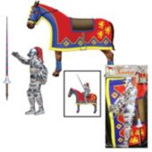 Medieval Jouster And Horse Decoration