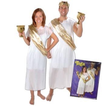 White Toga  with Gold Sash