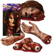 Bloody Body Part Cutouts-4 Pack