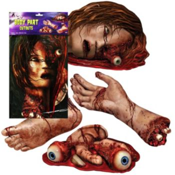 Bloody Body Part  Cutouts