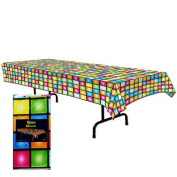 Disco Party  Plastic Table Cover