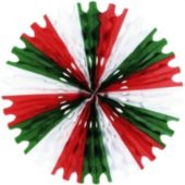 Red, White And Green Fan Decoration
