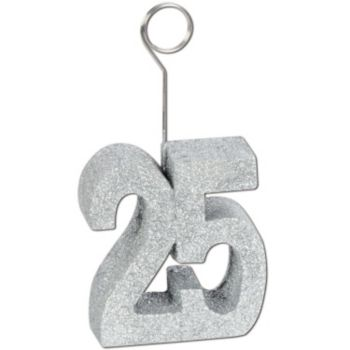 25 Silver Glitter  Balloon Weight