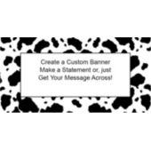 Cow Print Custom Banner