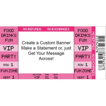 Pink VIP Ticket Custom Banner