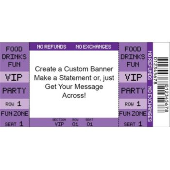 Purple VIP Ticket Custom Banner
