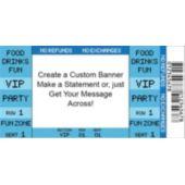 Blue Vip Ticket Custom Banner