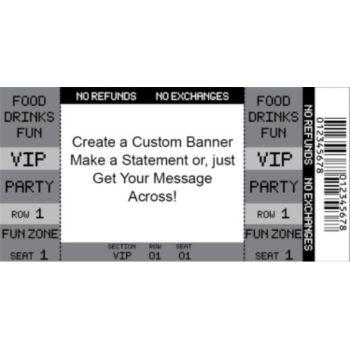 Black VIP Ticket Custom Banner