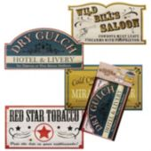 Old West Sign Props-4 Per Unit