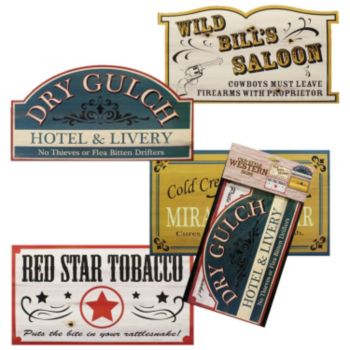 Old West Sign Props
