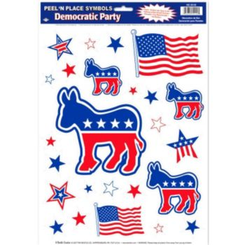 Democratic Party Peel n' Place Decals
