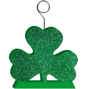 Green Glitter Shamrock Balloon Weight