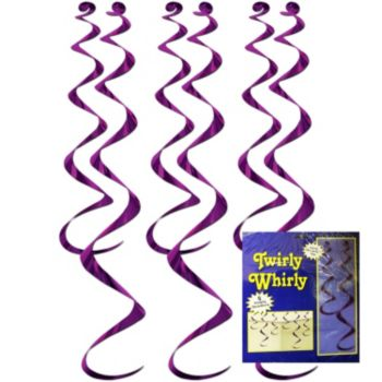 Purple Twirly Whirls