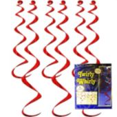 Red Twirly Whirl Decorations-6 Per Unit