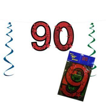 90 Red Glitter  String Banner
