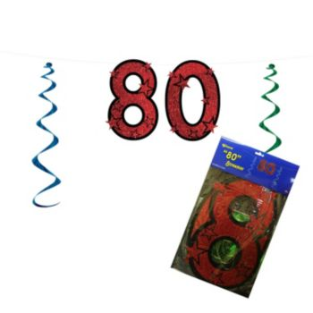 80 Red Glitter   String Banner