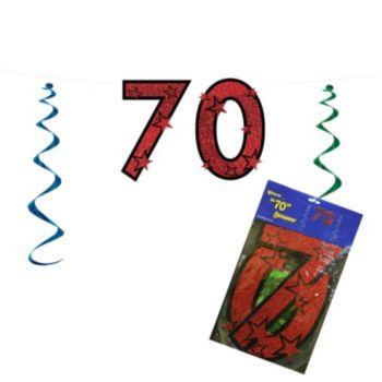 70 Red Glitter  String Banner