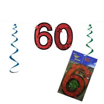 60 Red Glitter  String Banner