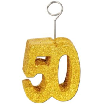 50 Gold Glitter Balloon Weight