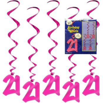 21 Pink Whirls