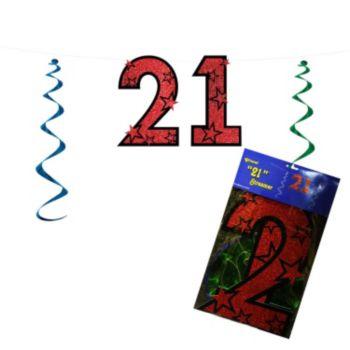 21 Red Glitter  String Banner