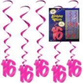 16 Pink Whirls