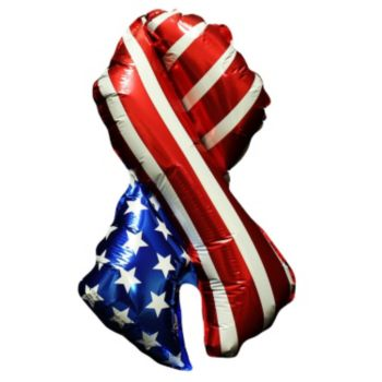 Patriotic Ribbon Metallic Balloon