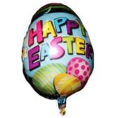 Happy Easter Egg Metallic Balloon - 18 Inch