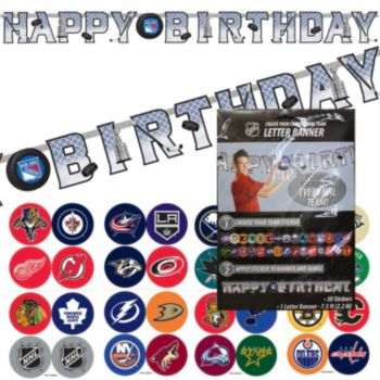 NHL Happy Birthday  Banner Kit