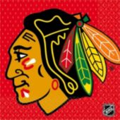 Blackhawks Lunch Napkins - 16 Pack