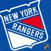 New York Rangers Lunch Napkins - 16 Pack