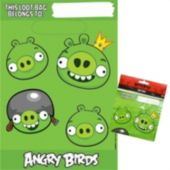 "Angry Birds 9 1/4"" Loot Bags - 6 Pack"