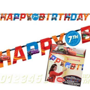 Cars 2 Birthday Banner