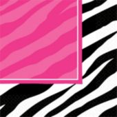 Zebra Pink Party Lunch Napkins - 16 Pack