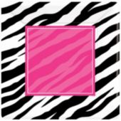 "Zebra Pink Party 7"" Plates - 8 Pack"